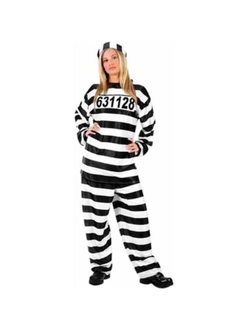 Adult Jailhouse Honey Costume-COSTUMEISH