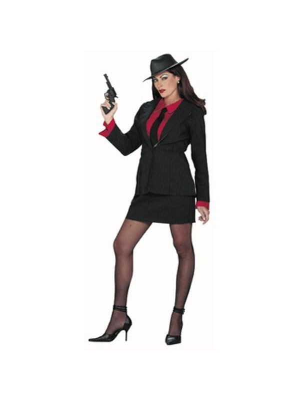 Adult Women's Gangster Suit Costume-COSTUMEISH