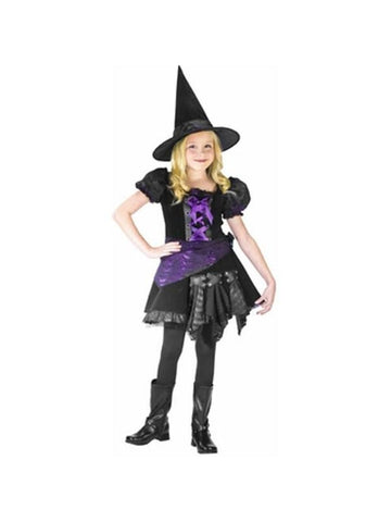 Childs Purple Punk Witch Costume-COSTUMEISH