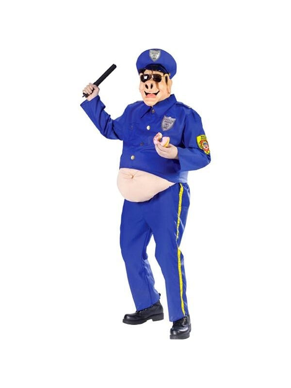 Adult Fat Police Pig Costume-COSTUMEISH