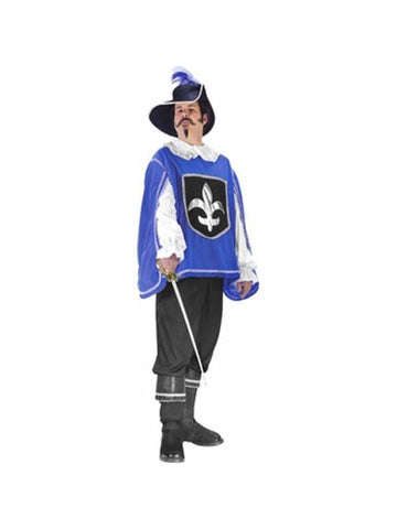 Adult Blue Musketeer Costume