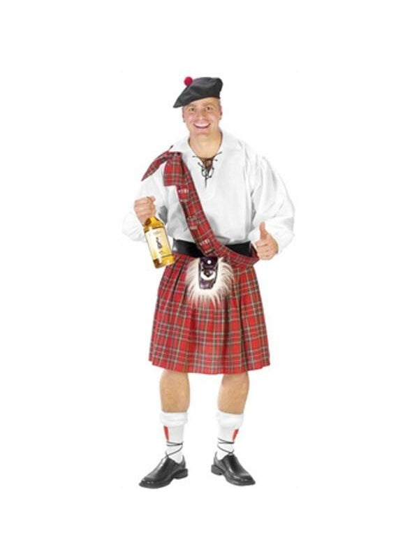 Adult Big Shot Scottish Costume-COSTUMEISH