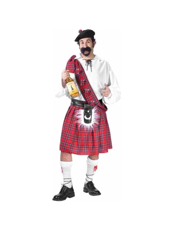 Adult Plus Size Big Shot Scottish Costume-COSTUMEISH