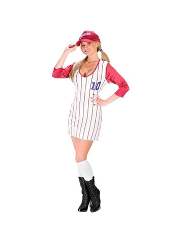 Adult Women's Home Run Honey Baseball Costume-COSTUMEISH
