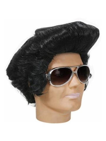 Adult Oversized Rock And Roll Elvis Wig-COSTUMEISH