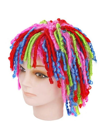 Adult Curly Locks Multicolored Wig-COSTUMEISH
