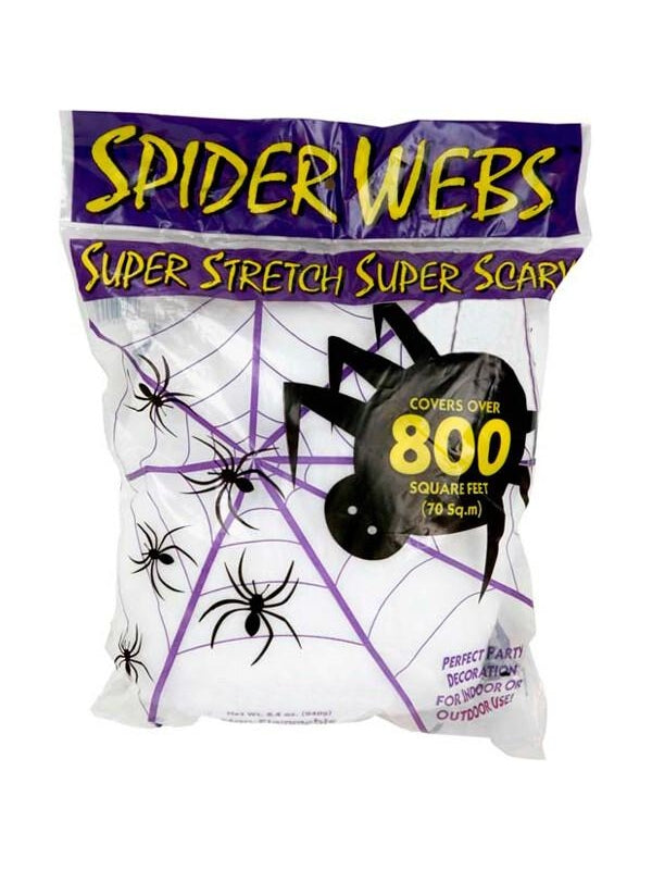 Jumbo Size White Spider Web-COSTUMEISH