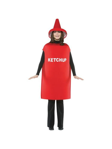 Adult LW Ketchup Bottle Costume-COSTUMEISH