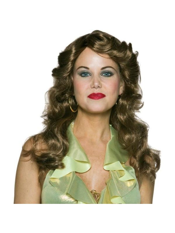 Adult Brown Dancing Queen Wig-COSTUMEISH