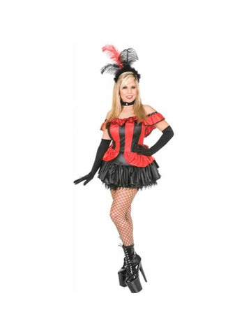 Adult Sexy Can Can Girl Costume