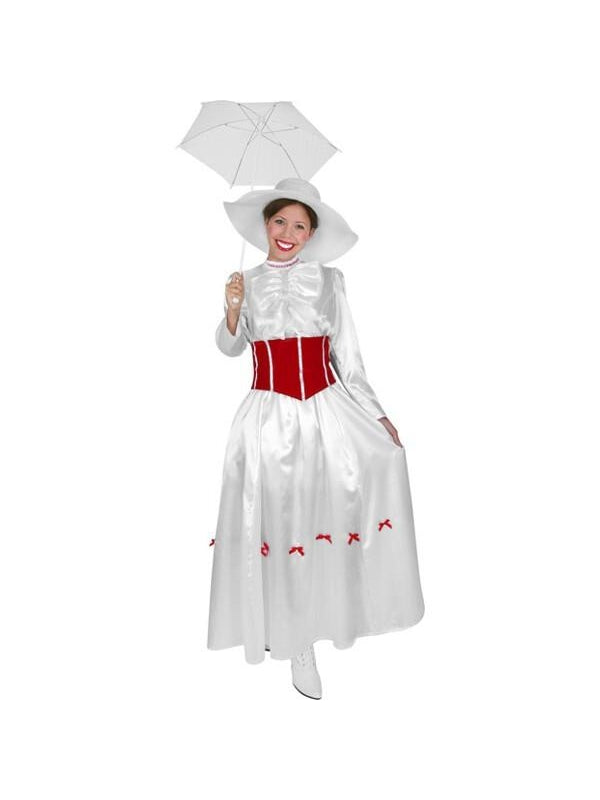 Adult English Nanny Costume-COSTUMEISH