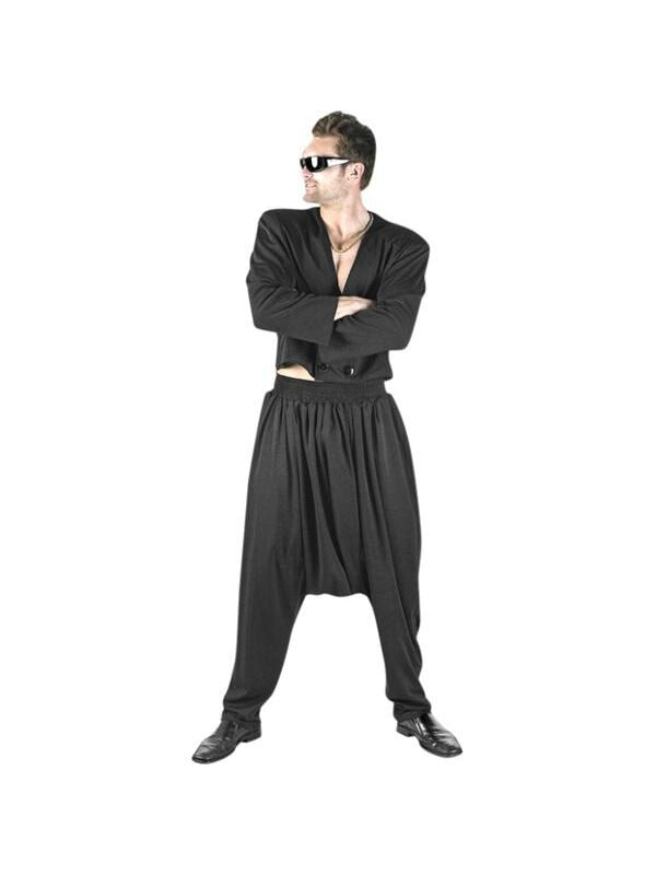 Adult Black MC Hammer Costume-COSTUMEISH