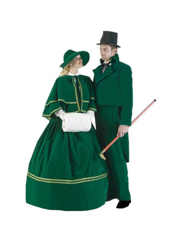 Adult Green Christmas Caroler Theater Costume