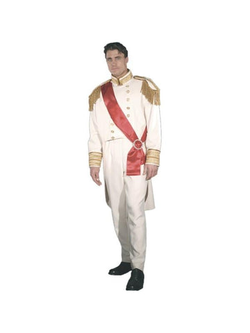 Adult White Prince Charming Theater Costume