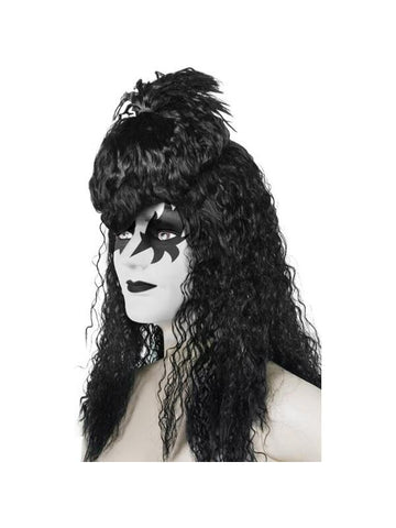 Black 70's Glam Kiss Star Wig