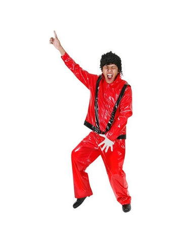 Adult Vinyl King of Thrills Red Costume-COSTUMEISH