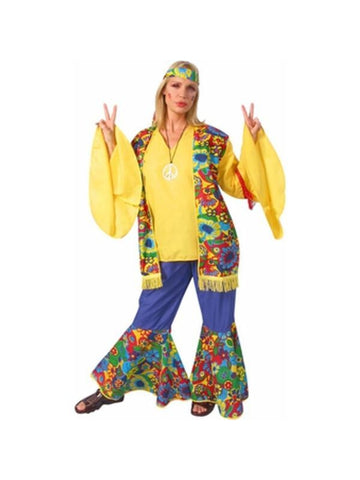 Adult Hippie Flower Child's Costume