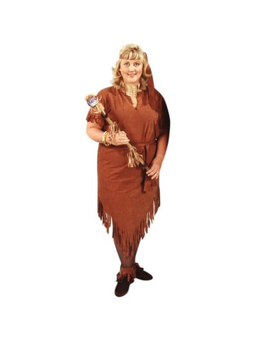 Adult Plus Size Indian Woman's Costume-COSTUMEISH