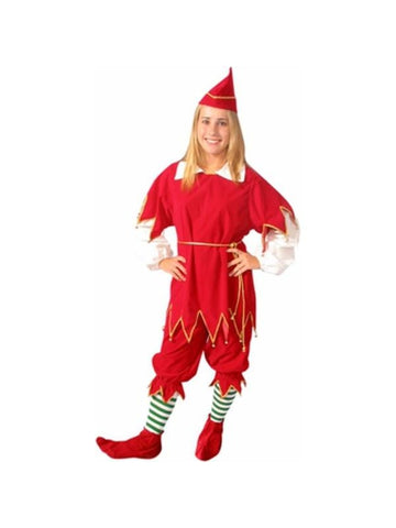 Adult Santas Red Little Helper Costume