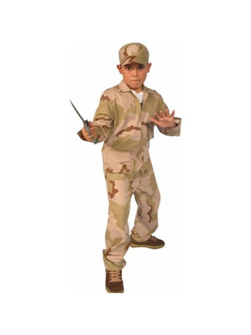 Child's Desert Army Outfit Costume-COSTUMEISH