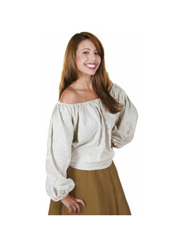 Adult Long Sleeve Peasant Blouse-COSTUMEISH