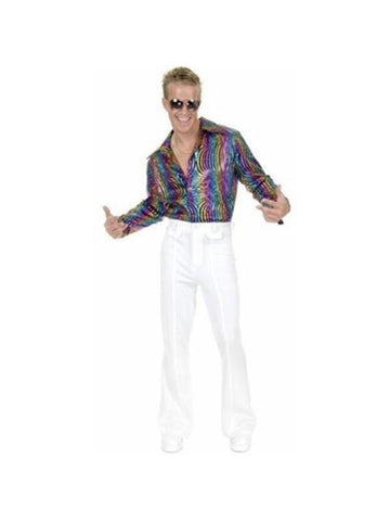 Adult Men's Multi Glitter Disco Shirt