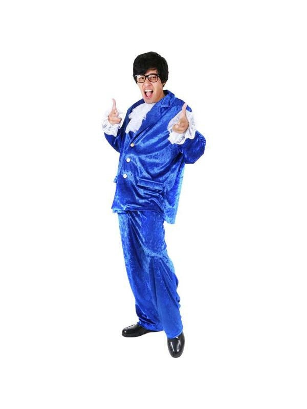 Adult Deluxe Austin Powers Costume-COSTUMEISH