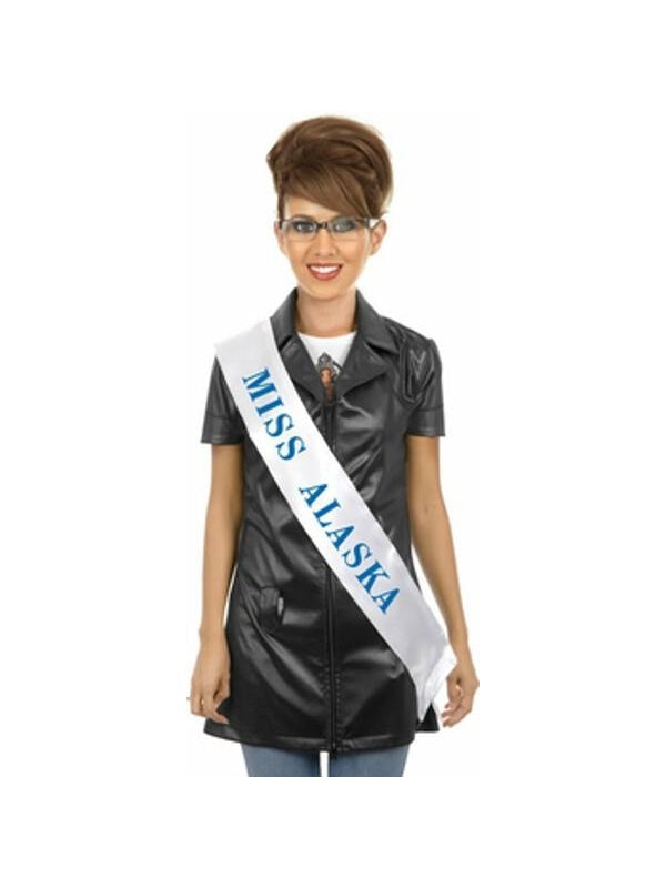 Adult Sash and Glasses Sarah Palin Costume Kit-COSTUMEISH