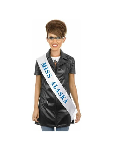 Adult Sash and Glasses Sarah Palin Costume Kit
