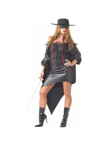 Adult Plus Size Zorro Girl Costume-COSTUMEISH
