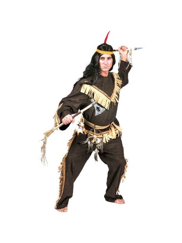 Adult Deluxe Indian Brave Costume-COSTUMEISH