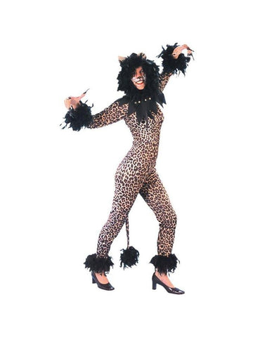 Women's Leopard Musical Cat Costume