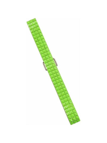 Adult 80's Style Neon Green Tile Belt