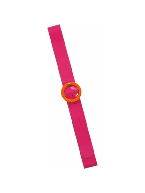 Adult 80's Style Neon Pink Belt-COSTUMEISH