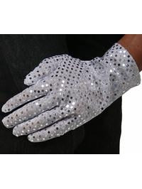 Adult Silver Pop Star Sequin Glove
