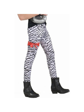 Adult 80's Style Zebra Rocker Pants-COSTUMEISH
