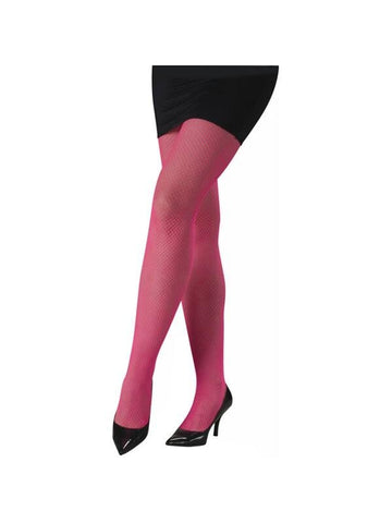 Adult Pink Neon Fishnet Pantyhose