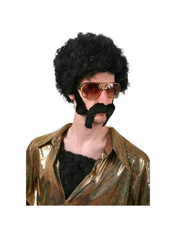 Adult 70's Style Disco Hair Fro Kit-COSTUMEISH
