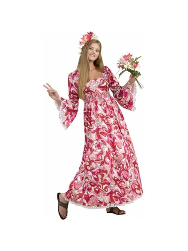 Adult Hippie Flower Child Costume-COSTUMEISH