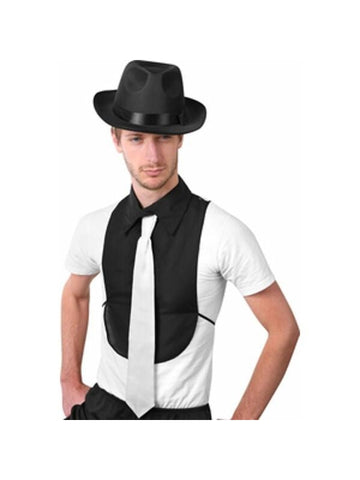 Adult Gangster Shirt Front With Tie