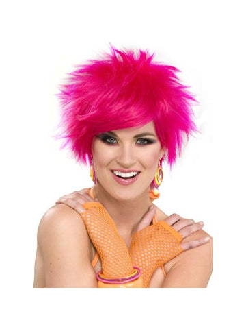 Adult Pink 80's Style Wig