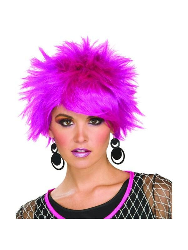 Adult 80's Style Purple Pixie Wig-COSTUMEISH