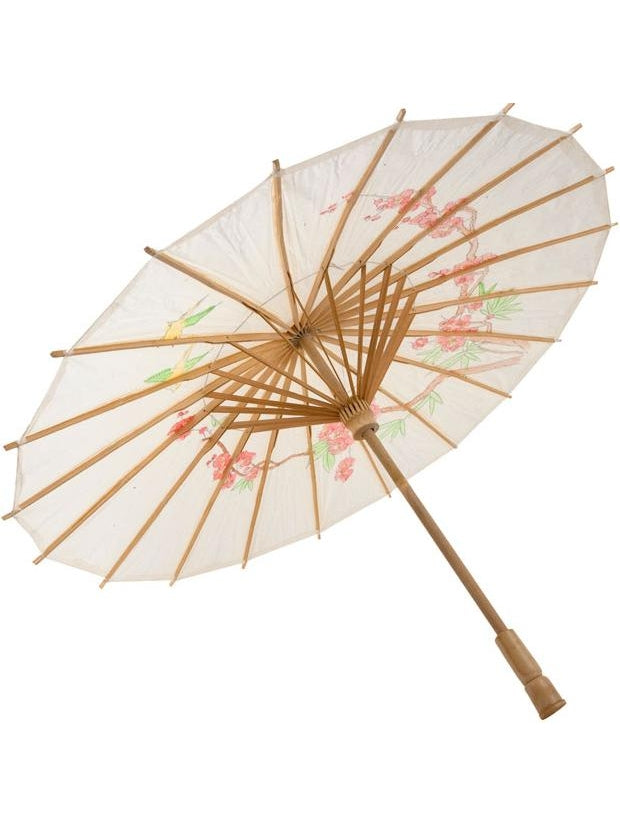 White Chinese Umbrella Costume Prop-COSTUMEISH