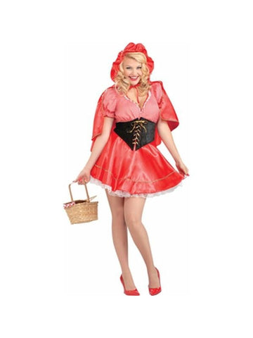 Adult Plus Size Little Red Riding Hood Costume-COSTUMEISH
