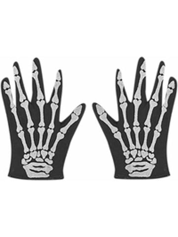 Adult Skeleton Costume Gloves-COSTUMEISH