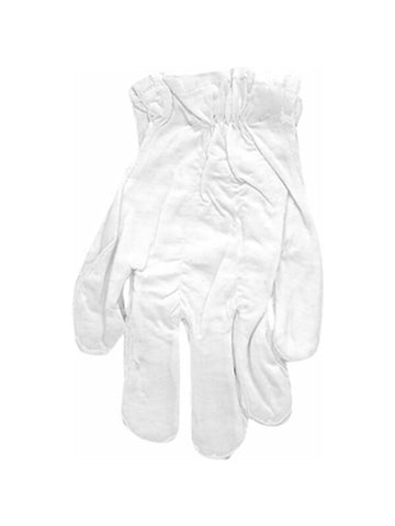 Adult White Cotton Costume Gloves-COSTUMEISH
