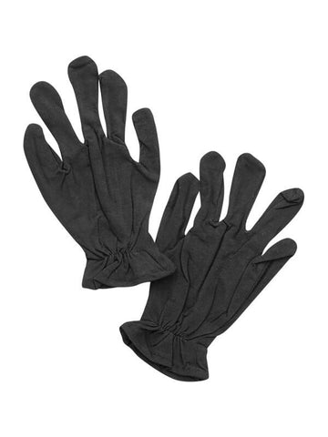 Adult Black Cotton Costume Gloves-COSTUMEISH