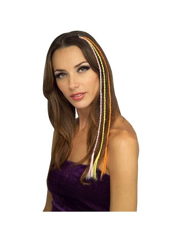 Karma Chameleon Costume Hair Extensions-COSTUMEISH