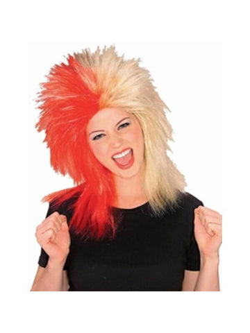 Sports Fan Red and Gold Wig-COSTUMEISH