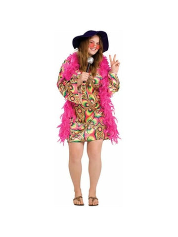 Adult Plus Size Psychedelic Dress Costume
